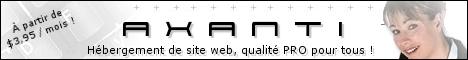AXANTI Hébergement de site web, à partir de $3.95 / mois